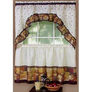 Superior Cadney Traditional Elegance Coffee 2 Piece Kitchen Curtain Set