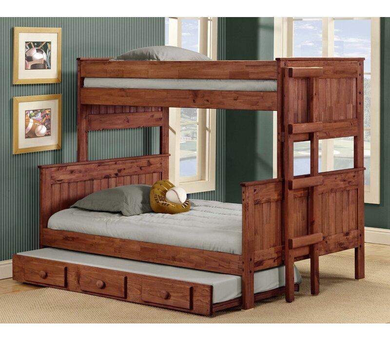 Harriet Bee Arrellano Stackable Bunk Bed With Trundle Wayfair