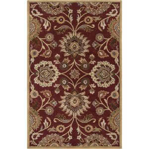 Phoebe Brick Tufted Wool Area Rug