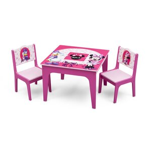Minnie Mouse Kids 3 Piece Table and Chair Set
