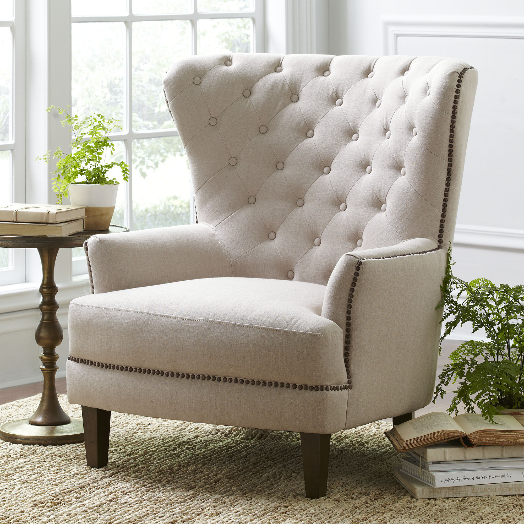 Birch Lane™ Gaines Wingback Chair & Reviews | Wayfair