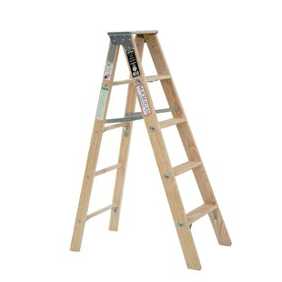 5 Ft Wood Step Ladder With 300 Lb Load Capacity