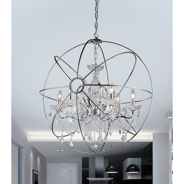 Warehouse Of Tiffany 6-Light Globe Pendant & Reviews