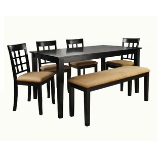 oneill 6 piece wood dining set - Dining Room Bench Set
