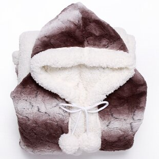 eb76bb73f0 Shady Ultra Plush Sherpa Lined Snuggle Up Animal Print Hoodie Wearable  Blanket