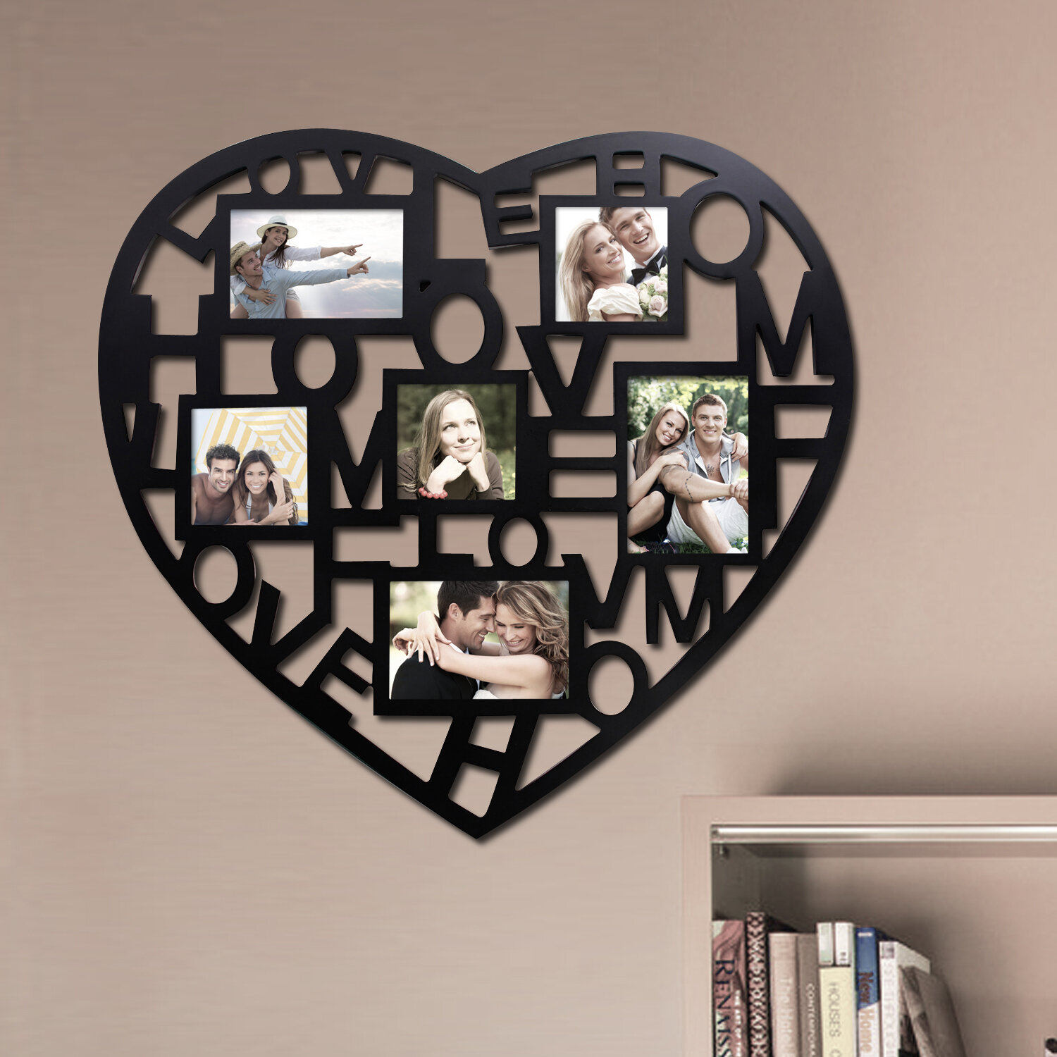 Heart Wall Collage My House Full Of Boys