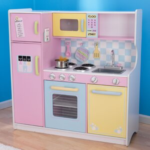 Delightful Wood Play Kitchen Set Wood Play Kitchen Sets | Wayfair.co.uk