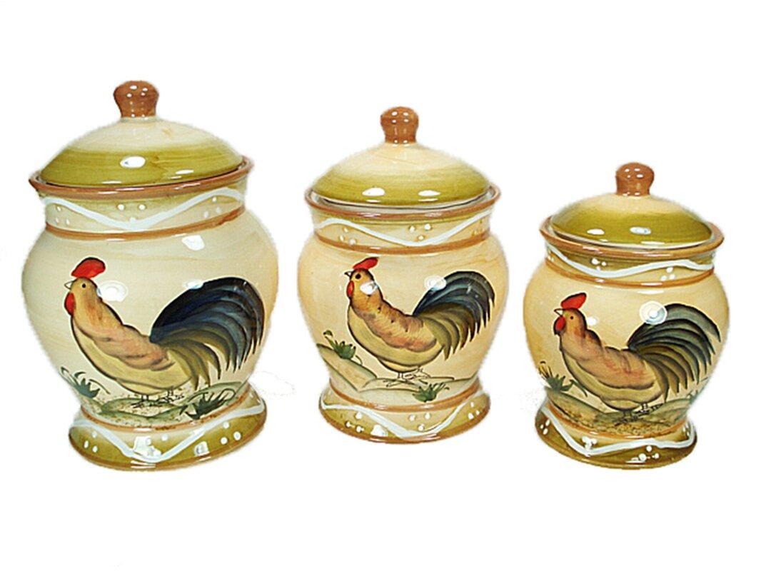 d lusso designs ceramic fruit 3 piece kitchen canister set ceramic kitchen canisters jars sku dlds1010 default name