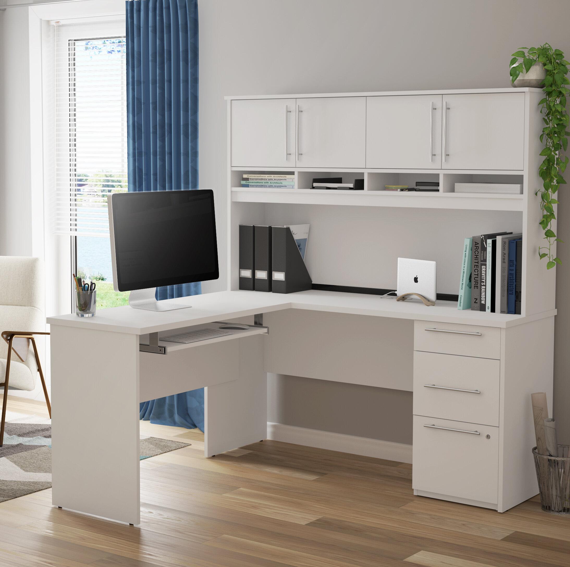 Altha Plus L Shaped Computer Desk With Hutch