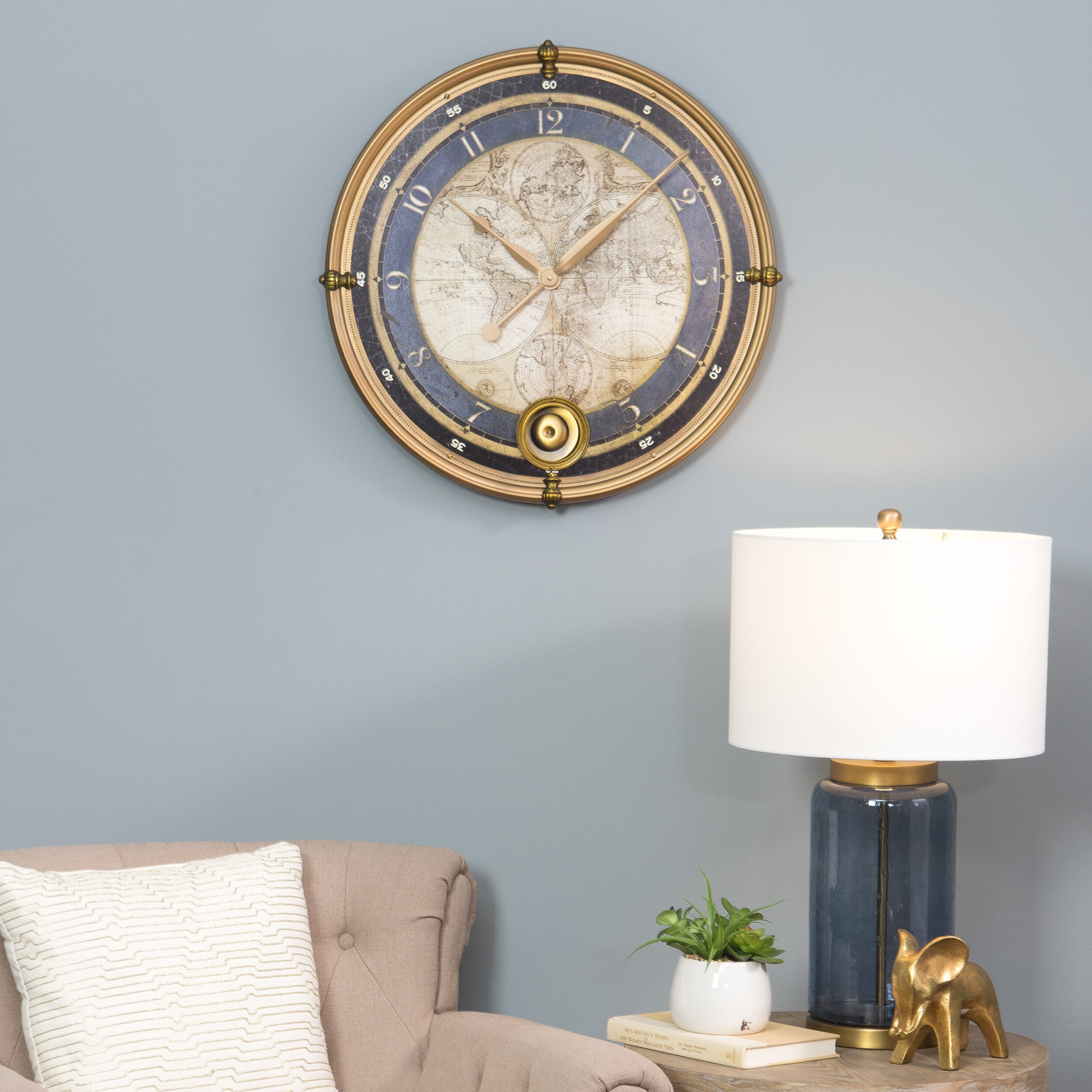 Aspire 23 ramona old map wall clock reviews wayfair gumiabroncs Image collections