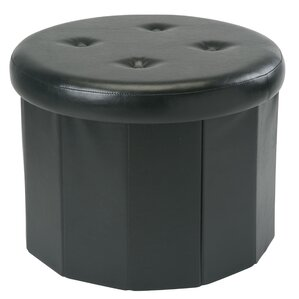 Hirsh Round 12 Pocket Collapsible Storage Ottoman by Winston Porter