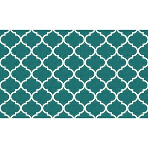 Moroccan Teal Indoor/Outdoor Area Rug
