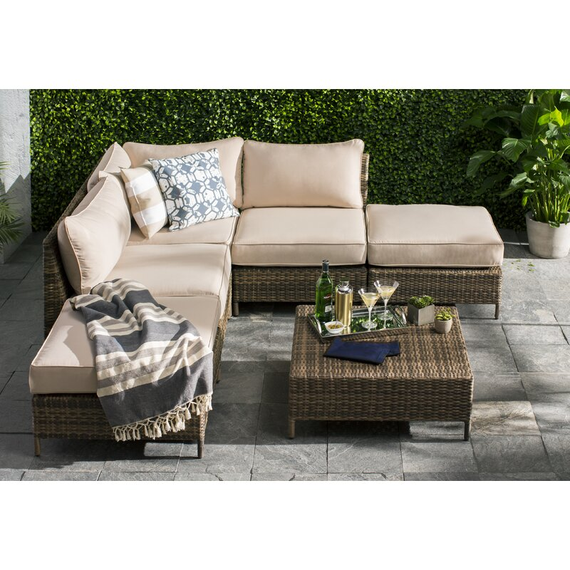 f86100e4cc6 Beachcrest Home Sophie 6 Piece Sectional Seating Group with Cushions ...