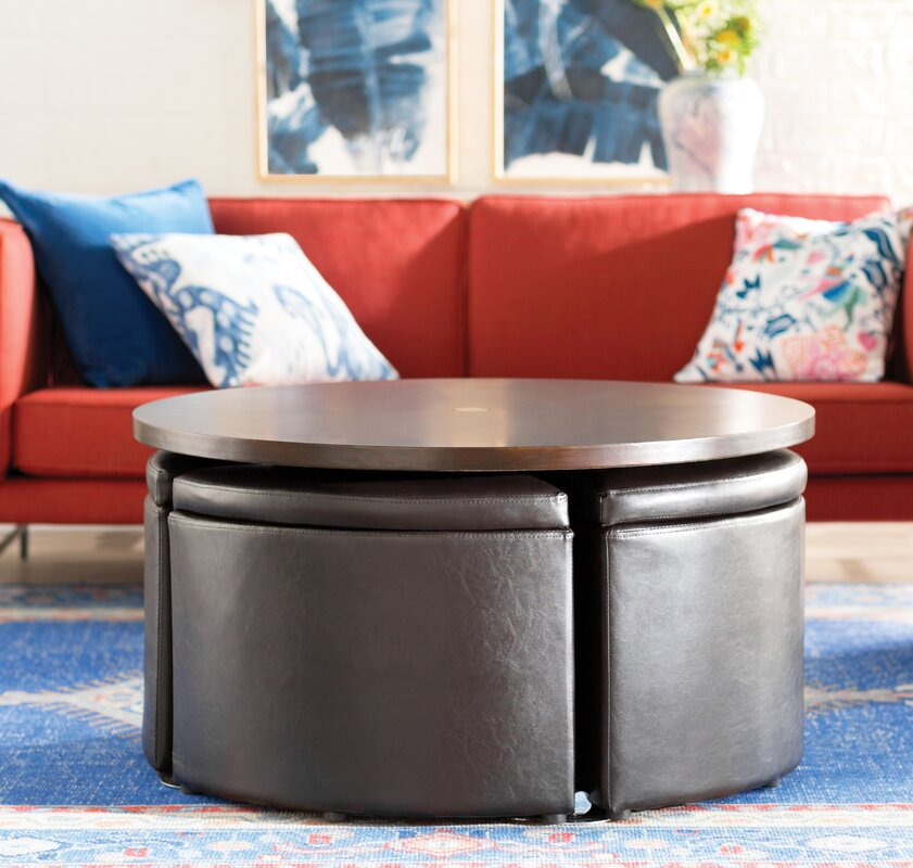 Red Barrel Studio Dempsey Gas Lift Coffee Table With