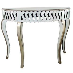 Plaza Mirror Half Moon Console Table