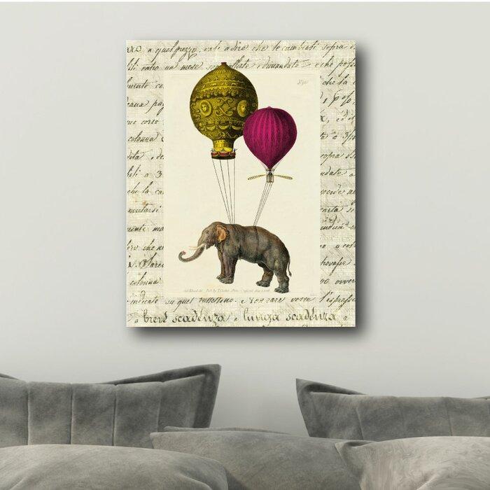 Elephant Ride Ii Canvas Art