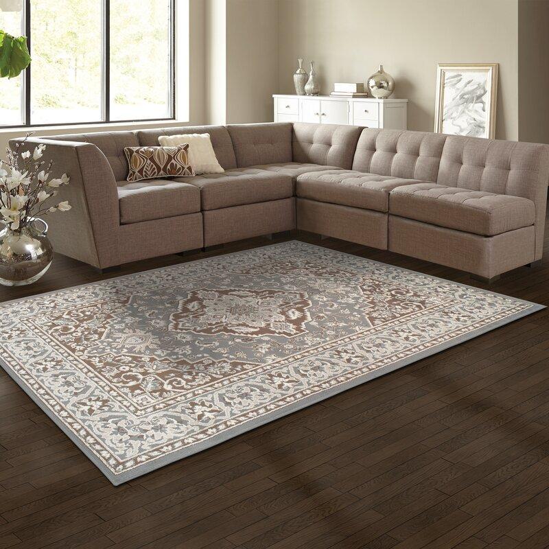 Astoria Grand Vassar Gray/Brown Area Rug & Reviews | Wayfair