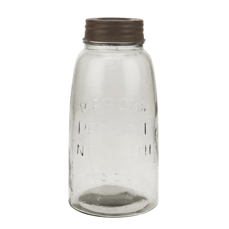 Charlton Home Large Mason Storage Jar With Rust Lid U0026 Reviews | Wayfair