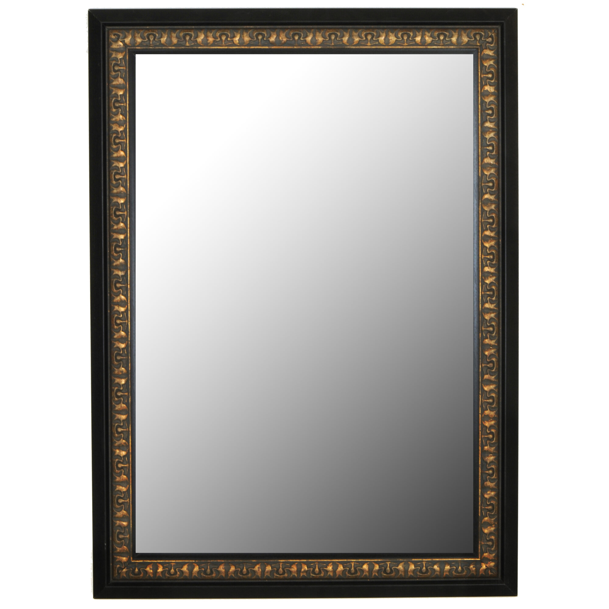 Second Look Mirrors Mumbai Vintage Copper Black Surround Wall Mirror ...