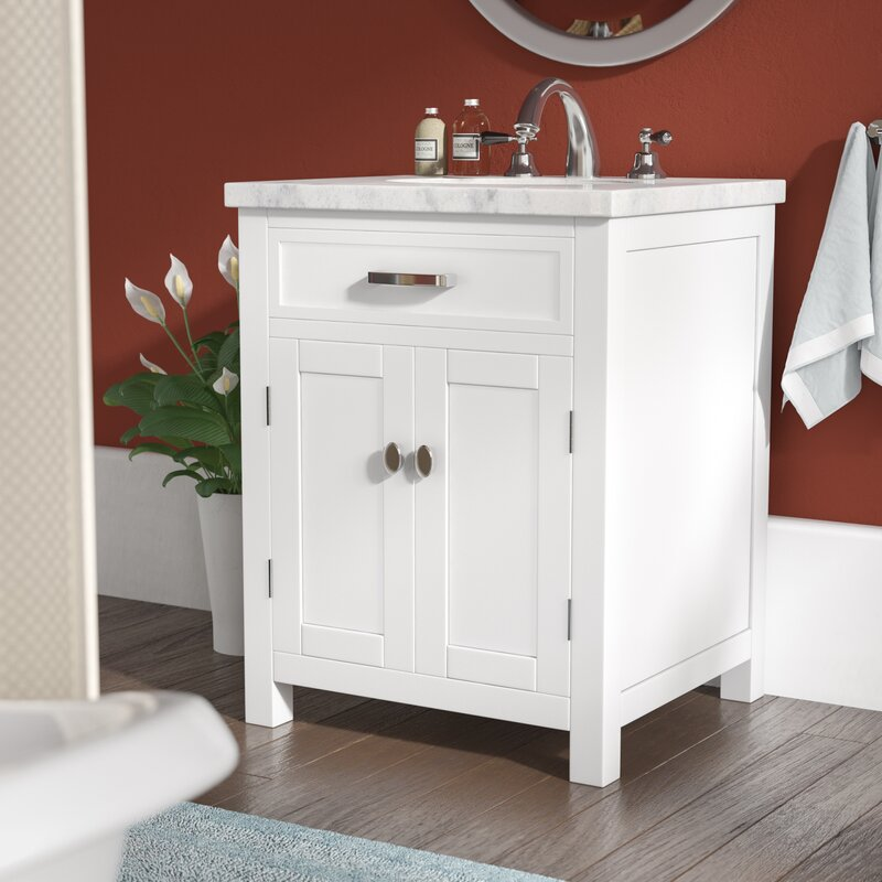 Andover Mills Latham 24 Single Bathroom Vanity Set Reviews Wayfair