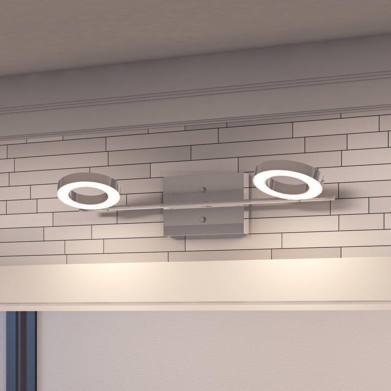 Orren Ellis Dominique 2-Light LED Vanity Light & Reviews | Wayfair
