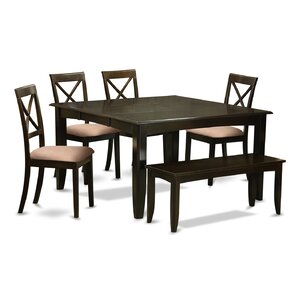 Parfait 6 Piece Dining Set by East West Furniture