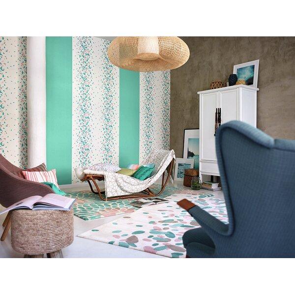esprit handgetufter teppich petals in t rkis. Black Bedroom Furniture Sets. Home Design Ideas