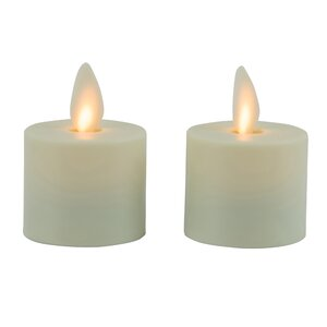 2 Piece Mystique Flameless Tea Light Set (Set of 2)
