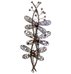 Metal Iron Dragonfly Wall Décor
