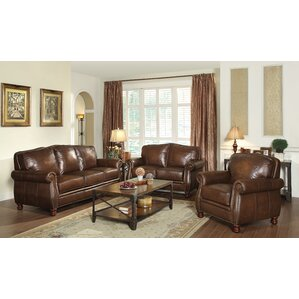 living room sets leather. Linglestown Configurable Living Room Set Leather Sets You ll Love  Wayfair