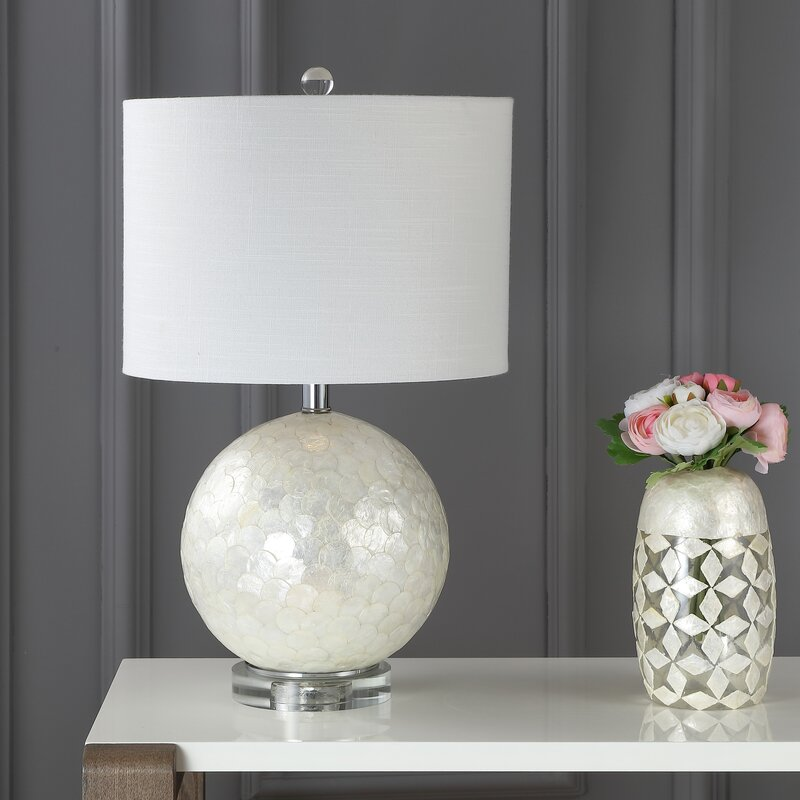 Mistana Mila Capiz Seashell 24 Table Lamp Wayfair