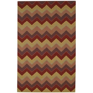 Irish Stitch Berry/Khaki Area Rug