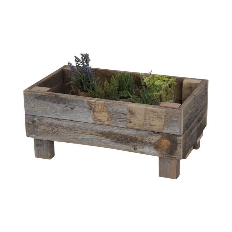reclaimed wood planter box - Wood Planter Box