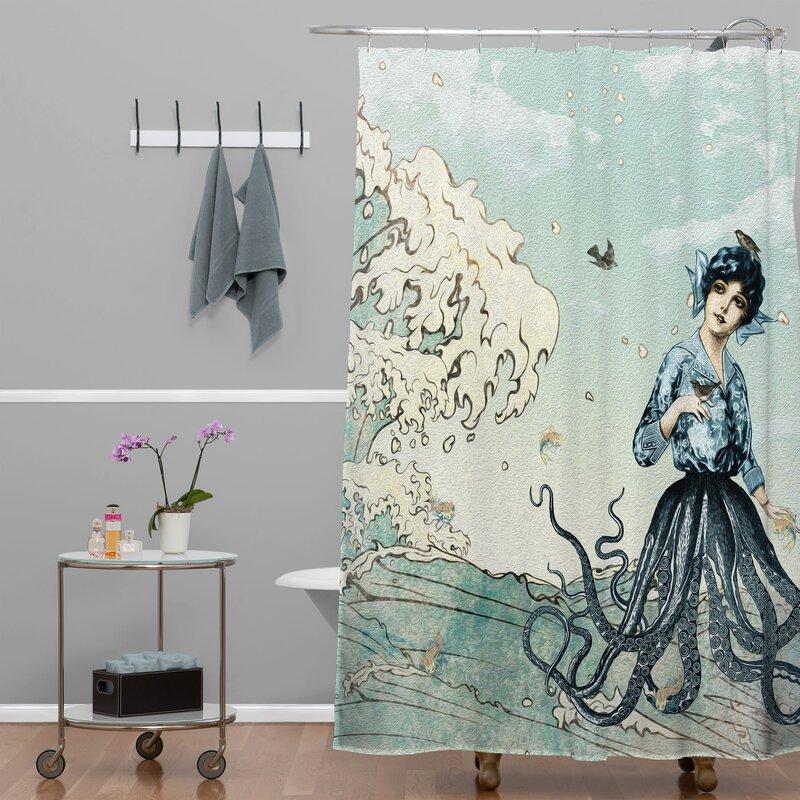 Brayden Studio Ketner Nautical Shower Curtain & Reviews   Wayfair