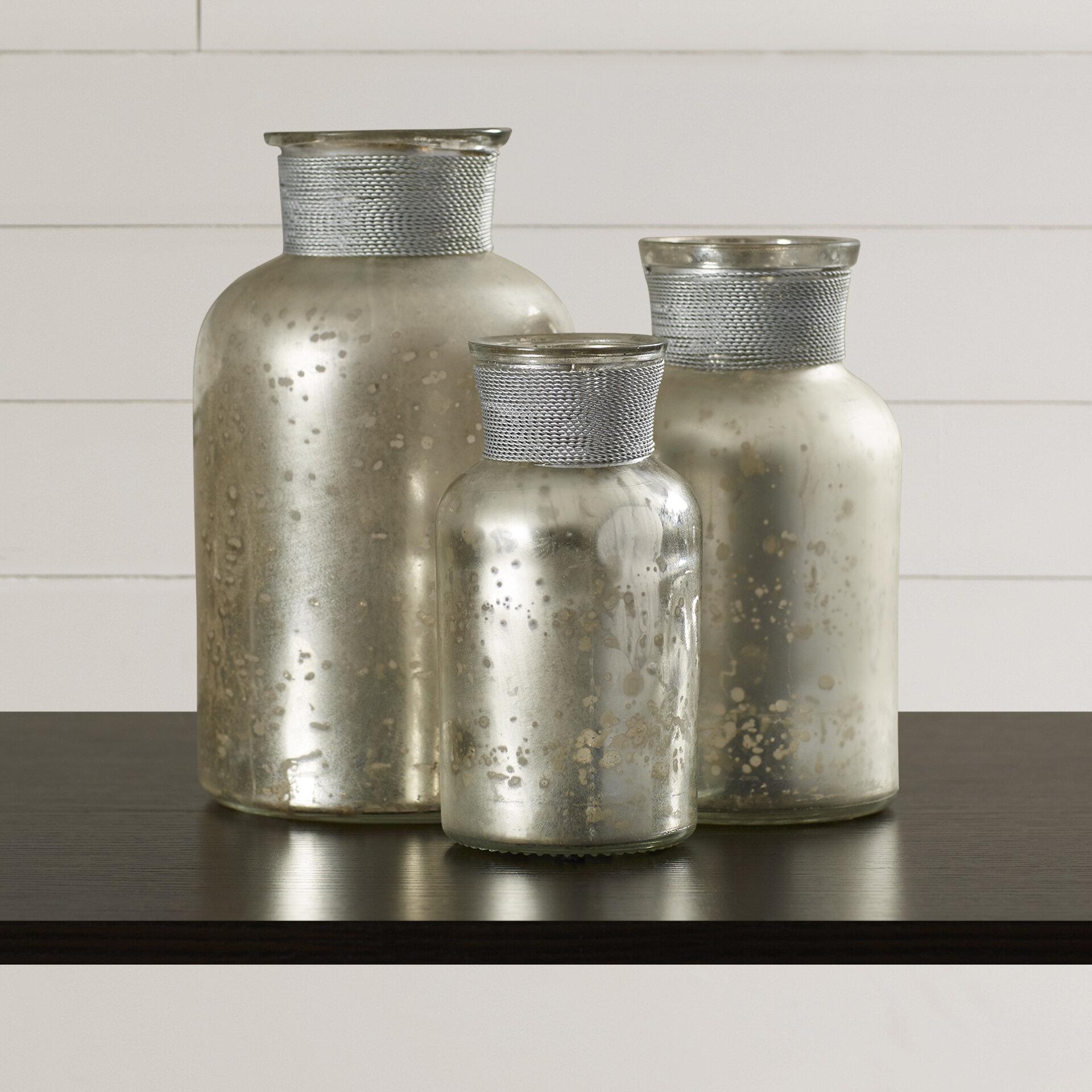 Myhre 3 Piece Decorative Bottle Set