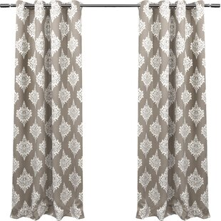 Brown Damask Curtains Drapes Youll Love