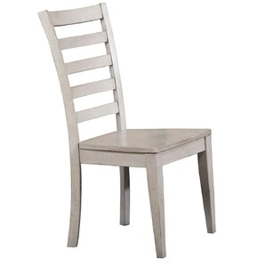 Rutledge Ladderback Solid Wood Dining Chair (Set of 2) by Rosecliff Heights