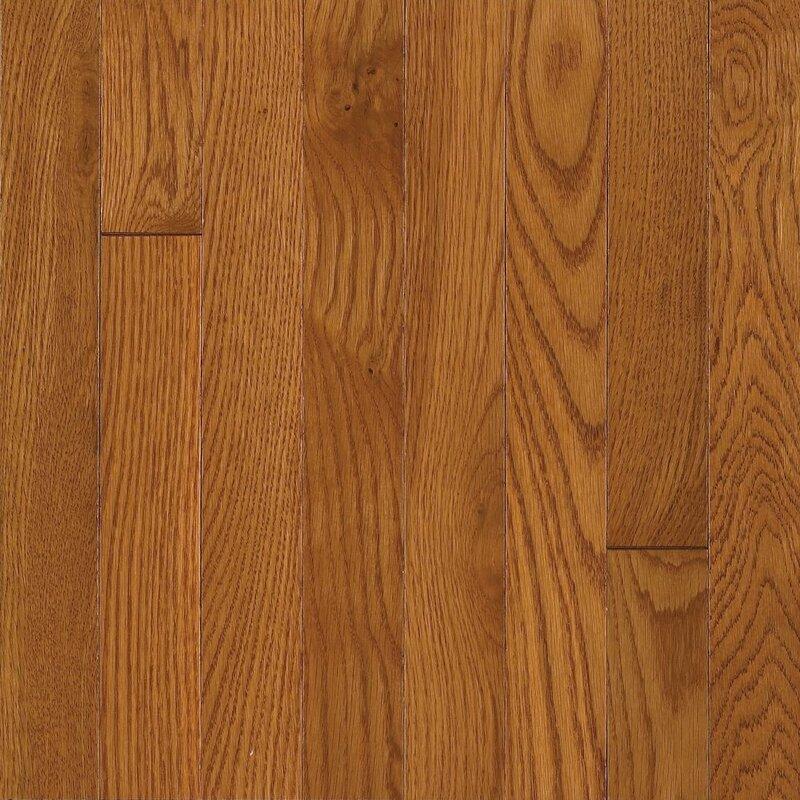"""Waltham 2-1/4"""" Solid Oak Hardwood Flooring in Brass"""