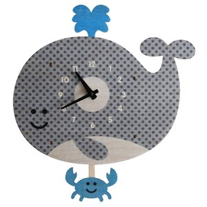 Ernesto Whale Pendulum Wall Clock