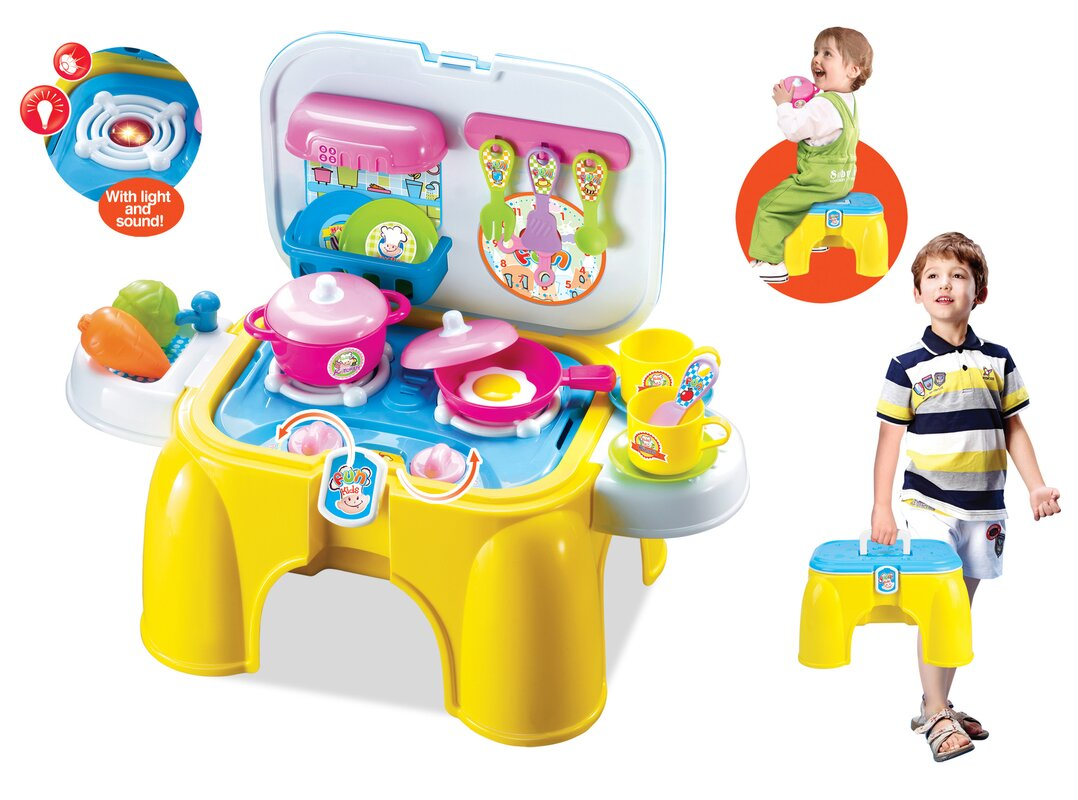 Berry toys my first portable and carry kitchen play set for Kitchen set 008 83