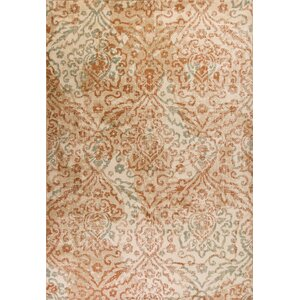 Giroflee Orange/Sand Gray Area Rug
