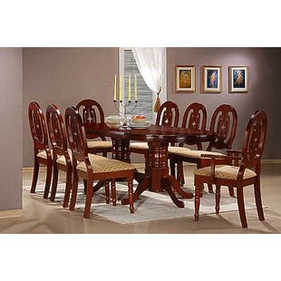 Lorraine Dining Set With 8 Chairs ...  sc 1 th 225 & Lorraine Dining Set With 8 Chairs By Charlton Home | Low Price