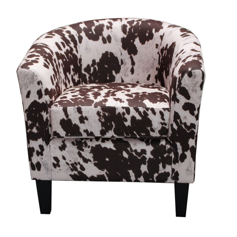 Lovely Cow Spot Print Barrel Chair