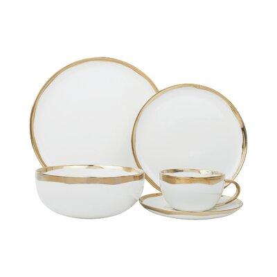 Dauville 5 Piece Place Setting Service for 1  sc 1 st  Wayfair & Lorren Home Trends Giada Porcelain 57 Piece Dinnerware Set Service ...