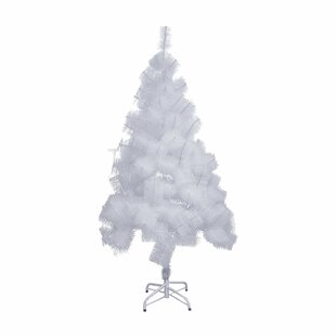 snow 5 white pine artificial christmas tree with metal stand