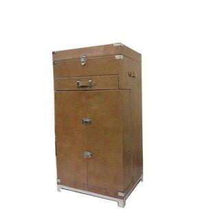Na Leather Bar Cabinet
