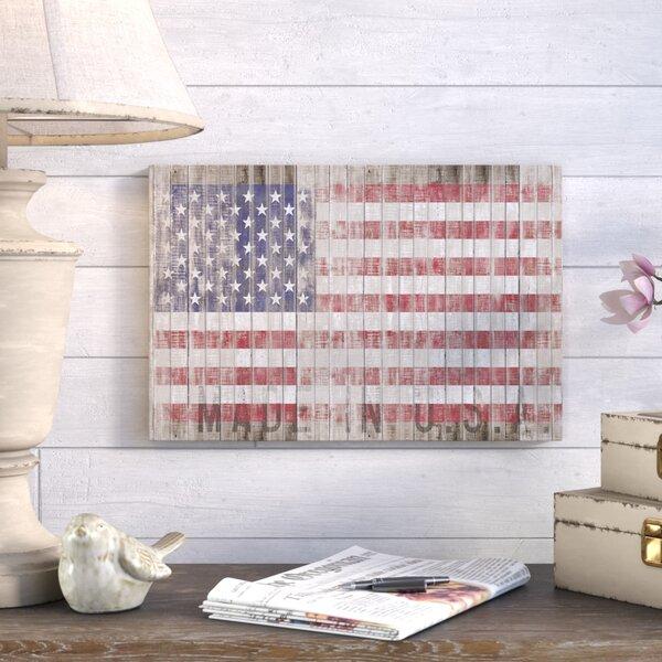 Bon American Flag Wall Art   Wayfair