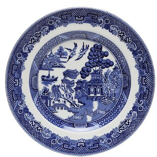 Willow Blue 6 Bread And Er Plate Set Of