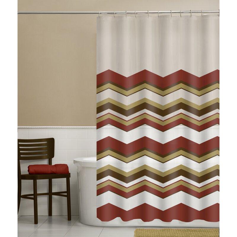Isamar Chevron Shower Curtain
