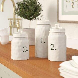 kitchen ceramic canister sets wayfair rh wayfair com Paula Deen Kitchen Canister Sets Paula Deen Kitchen Canister Sets